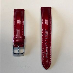 Michele 18mm Patent Leather Watch Band